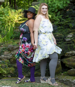 two women posing wearing juzo products